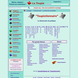 Toupictionnaire : Le dictionnaire de politique