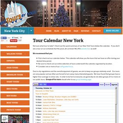 Tour Calendar New York