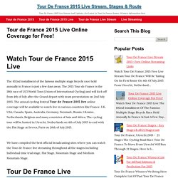 Tour de France 2015 Live Online Coverage for Free!