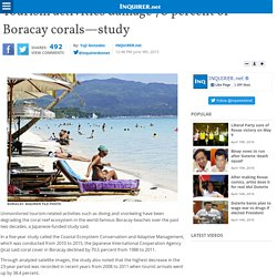Tourism activities damage 70 percent of Boracay corals—study