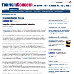 Tourism Concern - News from Tourism Concern