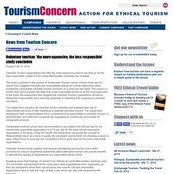 Tourism Concern - News from Tourism Concern