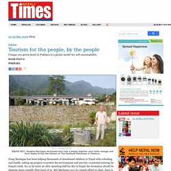 Tourism for the people, by the people