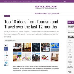 Top 10 ideas from Tourism and Travel over the last 12 months