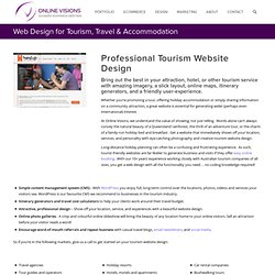 Tourism Website Design - Web Design for the Tourism Industry
