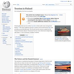 Tourism in Finland