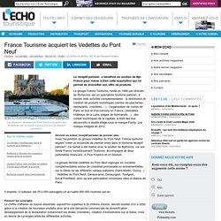 France Tourisme acquiert les Vedettes du Pont Neuf
