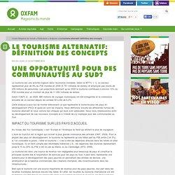 Le tourisme alternatif: définition des concepts