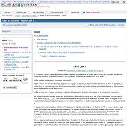 Code du tourisme - Article L211-1