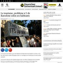 Le tourisme, problème n°1 de Barcelone selon ses habitants