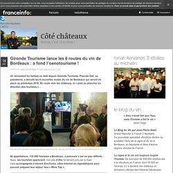 Gironde Tourisme Lance Les 6 Routes Du Vin De Bordeaux : à Fond L'oenotourisme !