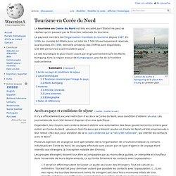 Tourisme en Corée du Nord (wiki)