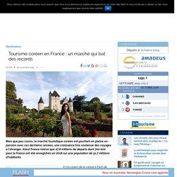 Tourisme coréen en France : un marché qui bat des records