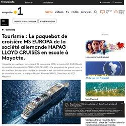 Tourisme : Le paquebot de croisière MS EUROPA de la société allemande HAPAG LLOYD CRUISES en escale à Mayotte.