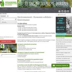 Le tourisme et le développement durable