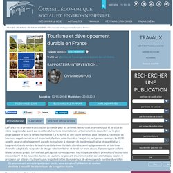 Tourisme et développement durable en France
