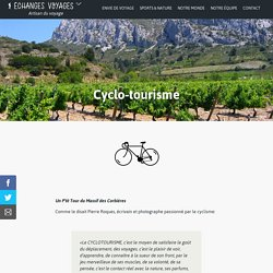 Cyclo-tourisme : Échanges-voyages