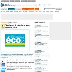 Tourisme : l' « écolabel » en ligne de mire