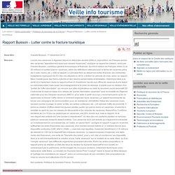 Rapport Buisson - Lutter contre la fracture touristique
