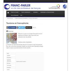 Tourisme en francophonie
