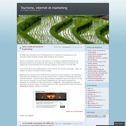 Tourisme, internet et marketing