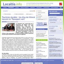 Tourisme durable : les élus du littoral lancent le Passeport vert
