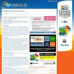 Open Data Tourisme - Visit Var, le site officiel du tourisme varois pour préparer vos vacances
