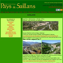 Office de Tourisme du Pays de Saillans - Site Officiel