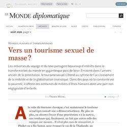 Vers un tourisme sexuel de masse ?, par Franck Michel