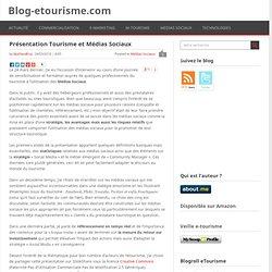 Tourisme et Médias Sociaux