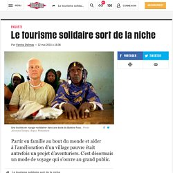 (20+) Le tourisme solidaire sort de la niche
