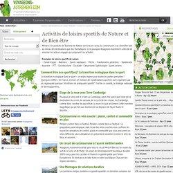 Tourisme Vert et Loisirs de Nature