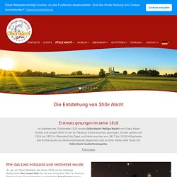 Wie das Lied entstand - Tourismusverband Oberndorf