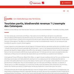 Touristes partis, biodiversité revenue ? L'exemple des Calanques