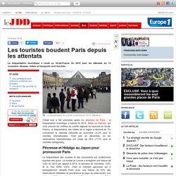 Les touristes boudent Paris depuis les attentats