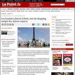 Les touristes chinois à Paris, rois du shopping malgré des séjours express