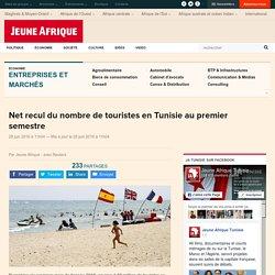 Net recul du nombre de touristes en Tunisie au premier semestre