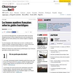 [2010] Les bonnes manières françaises selon les guides touristiques