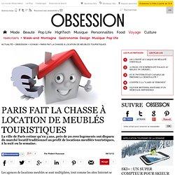 Paris fait la chasse à location de meublés touristiques