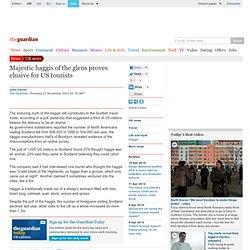 US tourists believe haggis is an animal