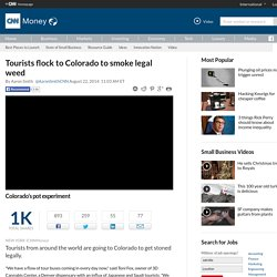 Tourists flock to Colorado to smoke legal weed - Aug. 22, 2014