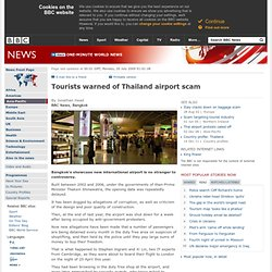 Tourists warned of Thailand airport scam