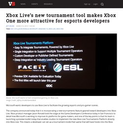 Xbox Live's new tournament tool makes Xbox One more attractive for esports developers