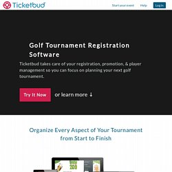 Golf Tournament Registration Software