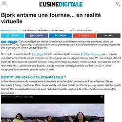 Bjork entame une tournée... en réalité virtuelle