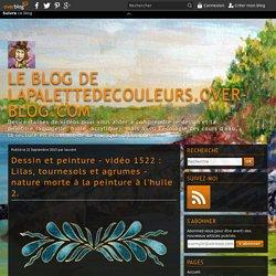 vidéo 1522 : Lilas, tournesols et agrumes - nature morte à la peinture à l'huile 2.