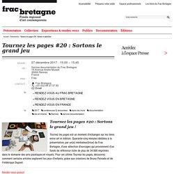 Tournez les pages #20 : Sortons le grand jeu