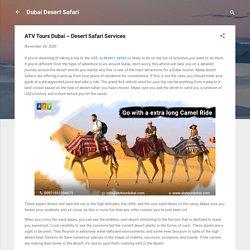 ATV Tours Dubai – Desert Safari Services