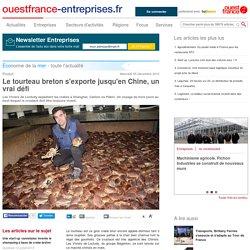 Le tourteau breton s'exporte jusqu'en Chine, un vrai défi