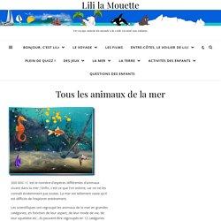 Tous les animaux de la mer » Lili la Mouette